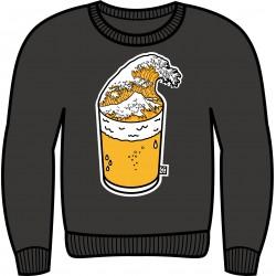 Sweetshirt tsunami beer