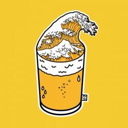 Beer tsunami tshirt